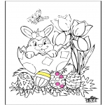 Ausmalbilder Themen - Ostern 11