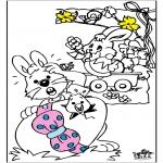 Ausmalbilder Themen - Ostern 3