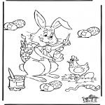 Ausmalbilder Themen - Ostern 4