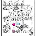 Ausmalbilder Themen - Ostern 7
