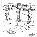 Bibel Ausmalbilder - Ostern Bibel 1