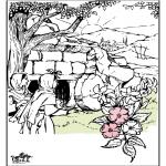 Bibel Ausmalbilder - Ostern Bibel 3