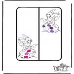 Ausmalbilder Themen - Ostern Lesezeichen 1