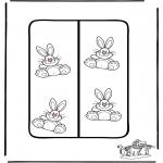 Ausmalbilder Themen - Ostern Lesezeichen 2
