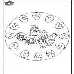 Ausmalbilder Themen - Ostern mandala 2
