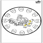 Ausmalbilder Themen - Ostern mandala 4