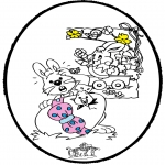 Ausmalbilder Themen - Ostern - Stechkarte 1