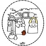 Bibel Ausmalbilder - Ostern Stickkarte
