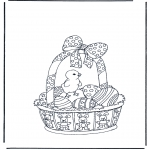 Ausmalbilder Themen - Osternkorb