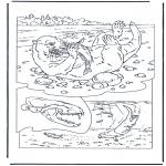 Ausmalbilder Tiere - Otter