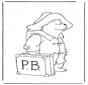 Paddington mit Koffer