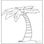 Allerhand Ausmalbilder - Palmenbaum