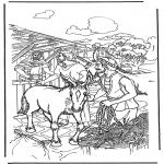 Bibel Ausmalbilder - Palmsonntag 1
