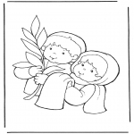 Bibel Ausmalbilder - Palmsonntag 2