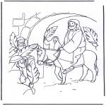 Bibel Ausmalbilder - Palmsonntag 4