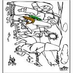 Bibel Ausmalbilder - Palmsonntag 7