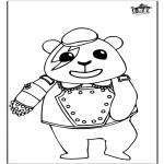 Ausmalbilder Tiere - Panda 1