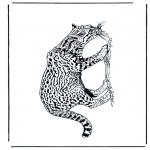 Ausmalbilder Tiere - Panther