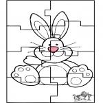 Ausmalbilder Themen - PaOsterhase Puzzle 3