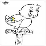 Ausmalbilder Tiere - Papagei 5