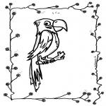 Ausmalbilder Tiere - Papagei