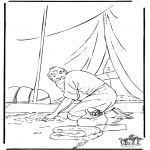 Bibel Ausmalbilder - Parabel der Pfunden