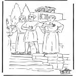 Bibel Ausmalbilder - Paulus spricht
