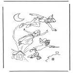 Ausmalbilder Comicfigure - Peter Pan 1