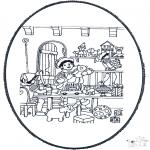 Basteln Stechkarten - Peter Stechkarte   8
