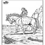 Ausmalbilder Tiere - Pferd 10