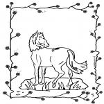 Ausmalbilder Tiere - Pferd 2