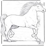 Ausmalbilder Tiere - Pferd 3