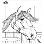 Ausmalbilder Tiere - Pferd 7