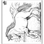 Ausmalbilder Tiere - Pferd 8