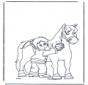 Pferd bürsten