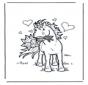 Pferd mit Blumen