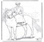 Pferd mit Dame
