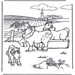 Ausmalbilder Tiere - Pferde malvorlagen