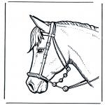 Ausmalbilder Tiere - Pferdekopf 2