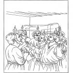 Bibel Ausmalbilder - Pfingsten 2