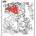 Allerhand Ausmalbilder - Pilze 2