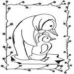Ausmalbilder Tiere - Pinguin 2