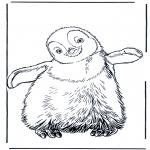 Ausmalbilder Tiere - Pinguin 3