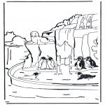 Ausmalbilder Tiere - Pinguine 1