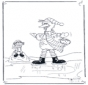 Pino fährt Schlittschuh