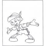 Ausmalbilder Comicfigure - Pinocchio