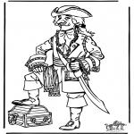 Allerhand Ausmalbilder - Pirat