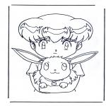 Ausmalbilder Comicfigure - Pokemon 7