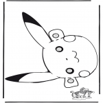 Basteln Stechkarten - Pokemon Maske