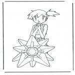 Ausmalbilder Comicfigure - Pokemon Misty